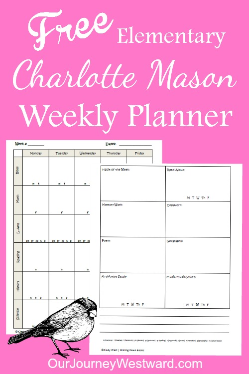school planner with subjects