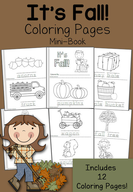 FREE Fall Mini Books And 12 Coloring Pages Free