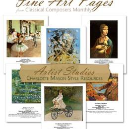 FREE Charlotte Mason Style Artist Study Resources – $14.95 Value (limited time!)