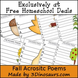 FREE Fall Themed Acrostic Poems Instant Download