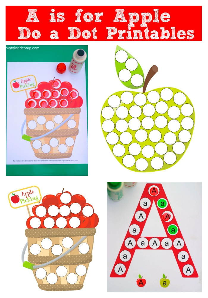 FREE Preschool Dot-a- Dot A is for Apple Printables | Free ...