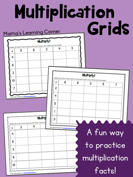Free Multiplication Grids Worksheet