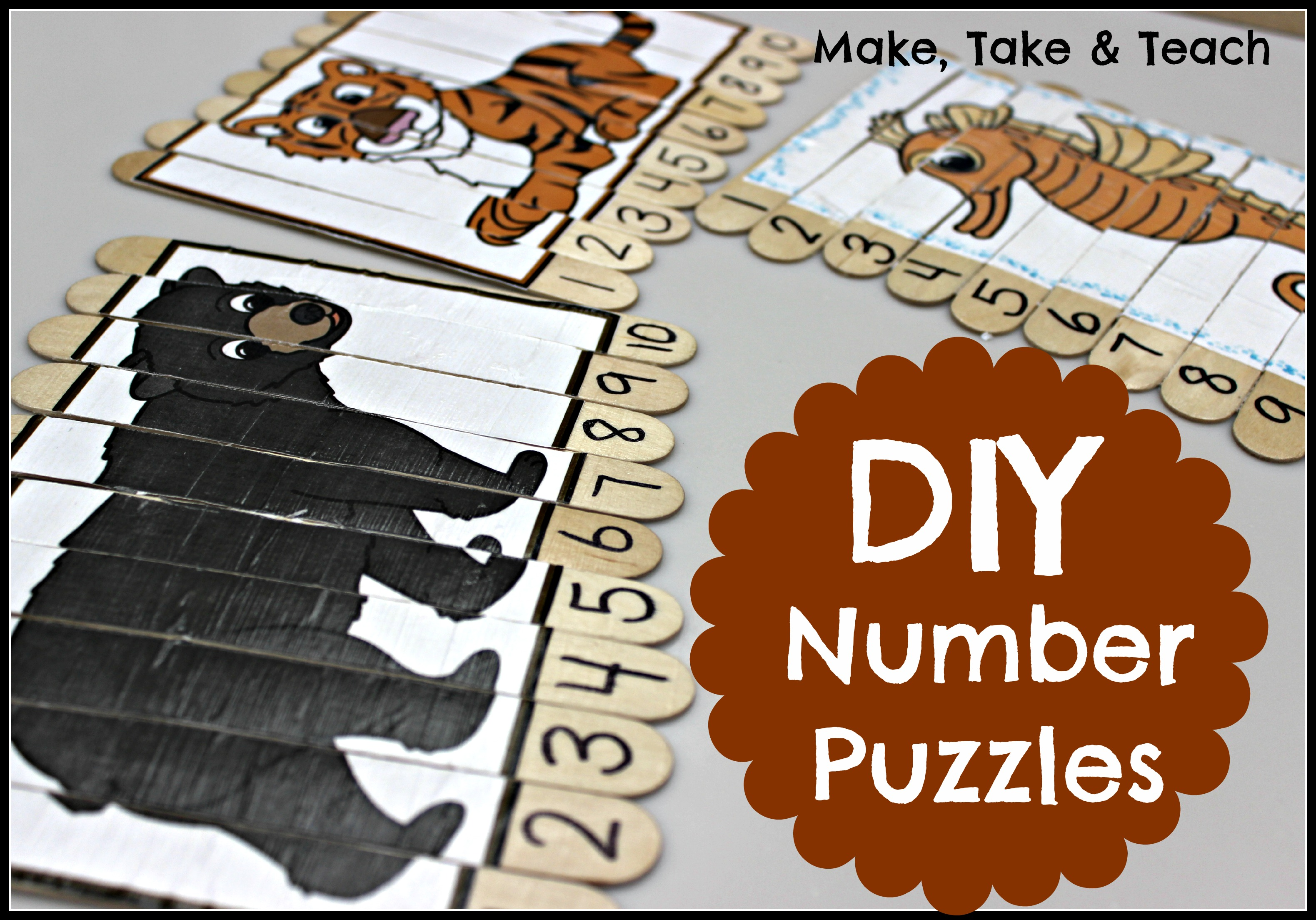 Free Diy Number Puzzles
