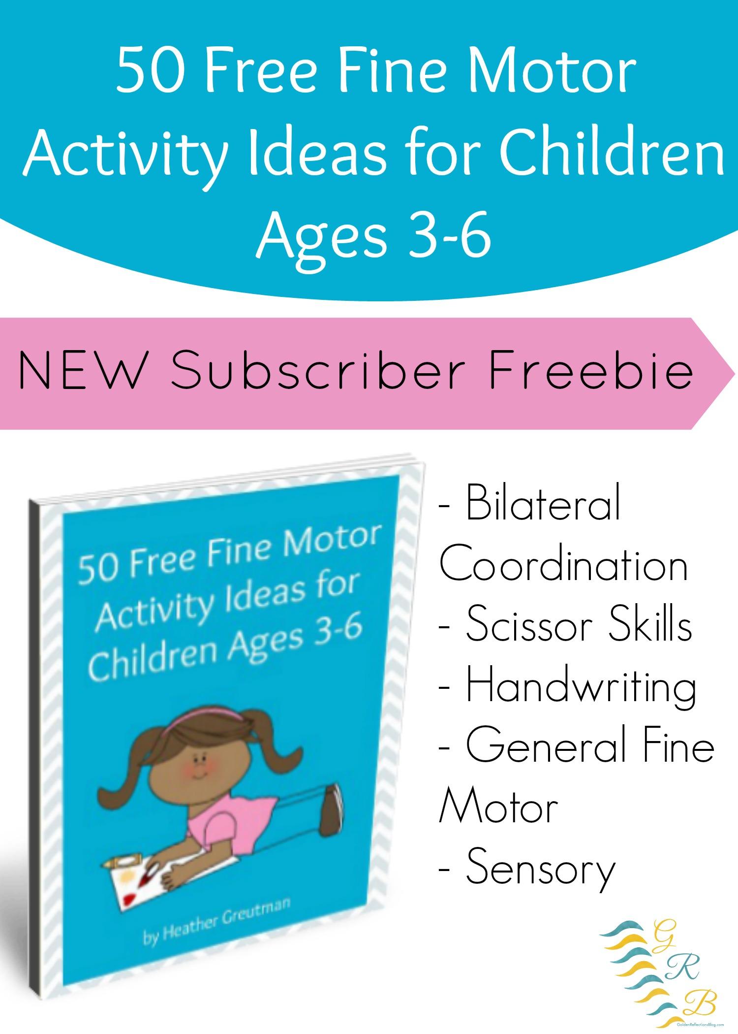 Free 50 Fine Motor Activity Ideas For Children 3 6