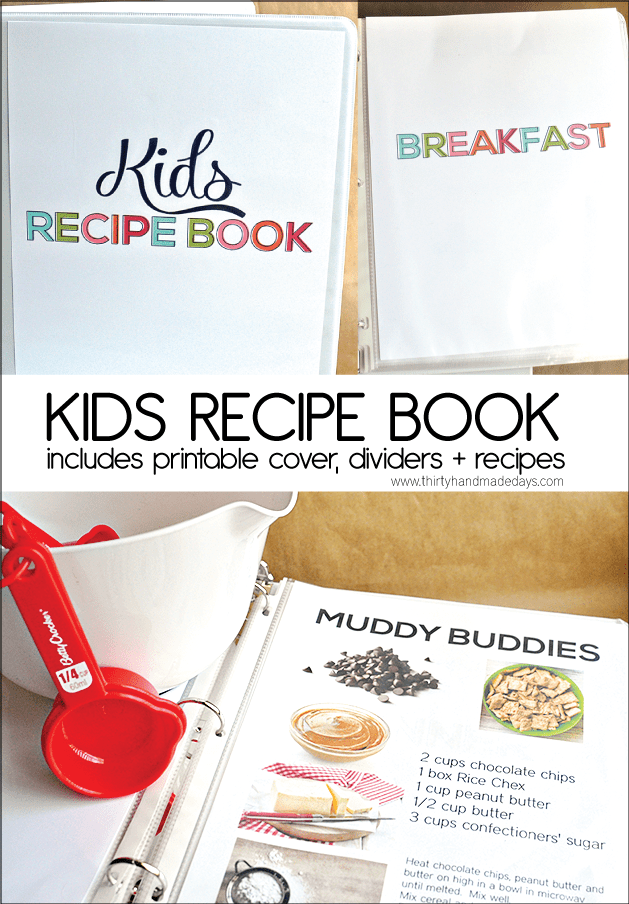 Adaptable image with regard to recipe book cover printable