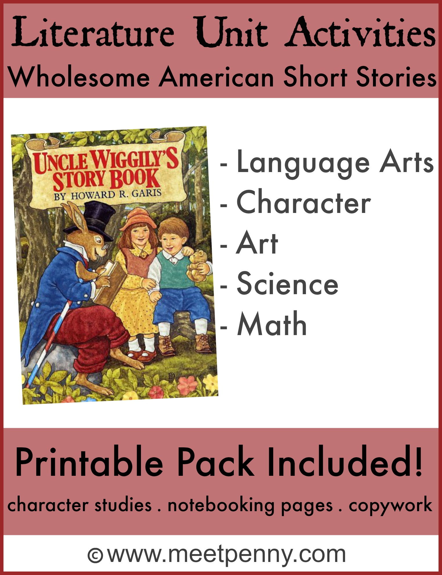 Free Uncle Wiggly S Story Book Unit Study Activities