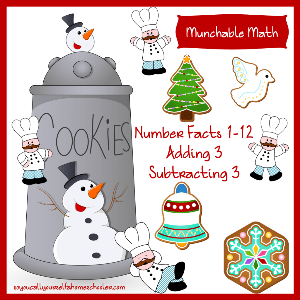 Free Munchable Math Christmas Worksheet Printable