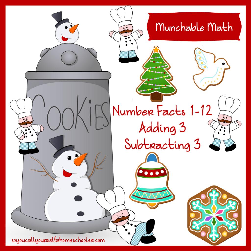 Free Munchable Math Christmas Worksheet Printable