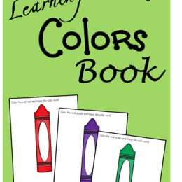 FREE LEARNING COLORS BOOK (instant download)