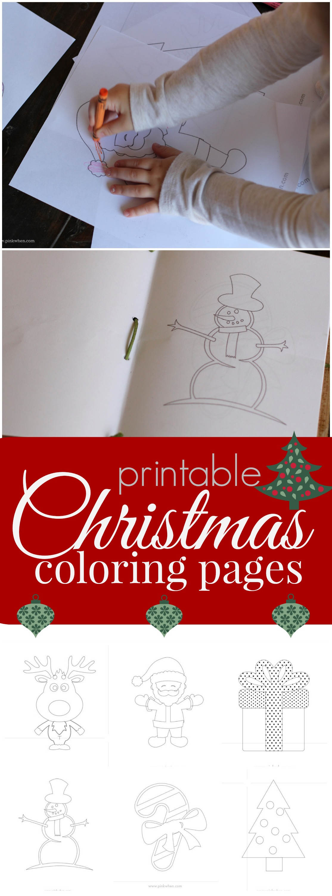 Free Christmas Coloring Pages Printable Book