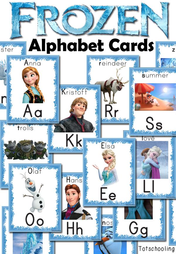 FREE Frozen Themed Alphabet Cards  Free Homeschool Deals
