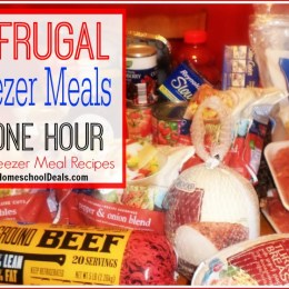 12 Frugal Freezer Meals in One Hour including Easy Freezer Meal Recipes