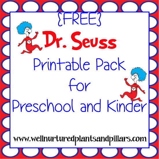FREE Dr. Seuss Printables Pack