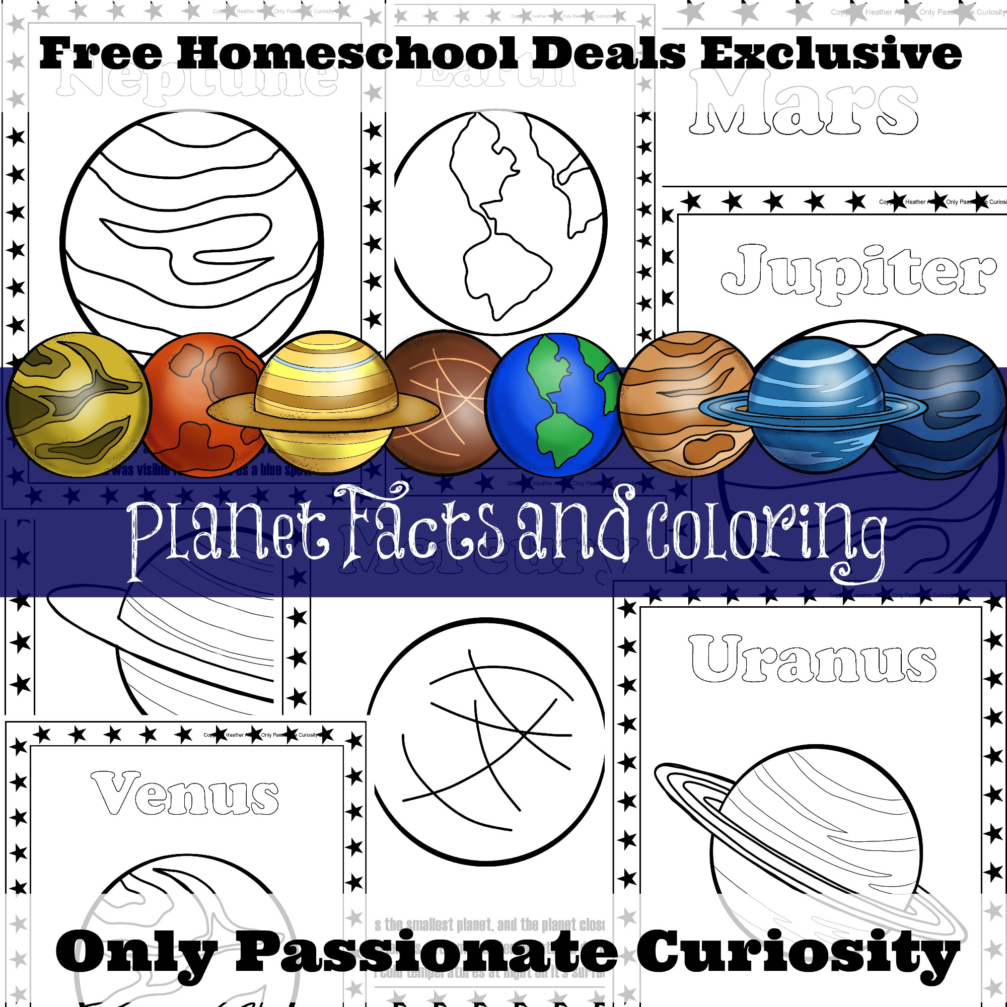 Free Planet Facts And Coloring Pages Instant Download