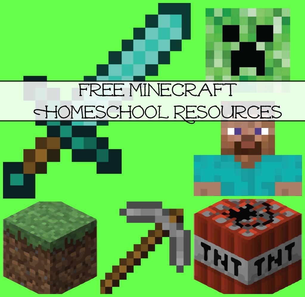 Free Minecraft Homeschool Resources Printables Crafts Snacks Games More