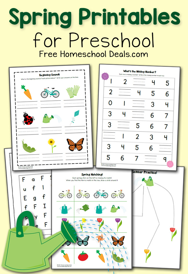 FREE SPRING PRINTABLES PACK FOR PRESCHOOL (instant download) | Free ...