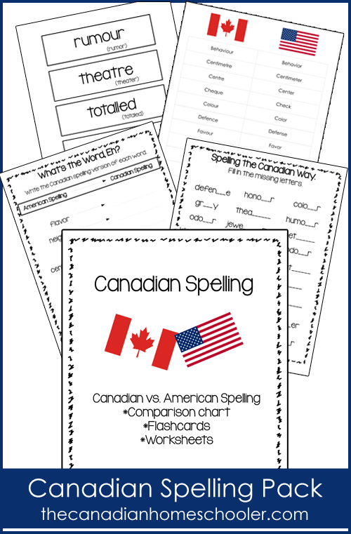 Canadian Spelling Words