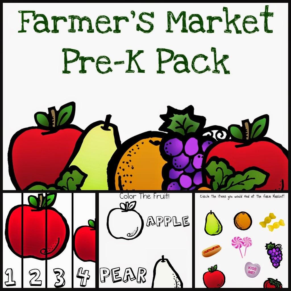 Free Farmers Market Pack For Prek