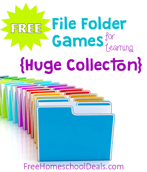 Free File Folder Games For Homeschool Learning And Fun