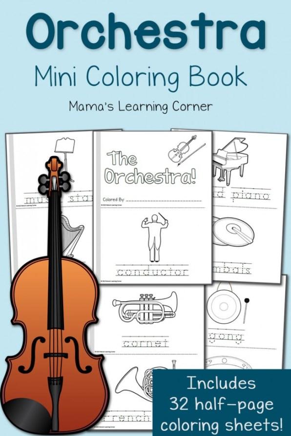 FREE Orchestra Mini-coloring book