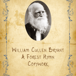 FREE William Cullen Bryant Notebooking Pages