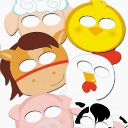 FREE Farm Animals Masks