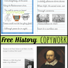 FREE History Copywork Pack {15+ Pieces!}