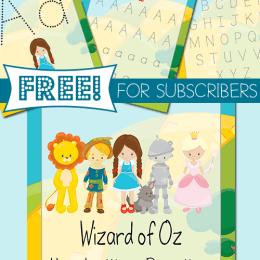 FREE Wizard of OZ Handwriting Practice Pack