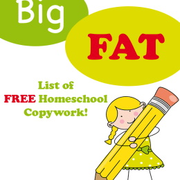 The BIG FAT LIST of Free Homeschool Copywork
