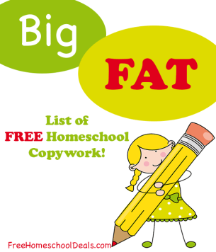 The big fat list of free homeschool copywork free homeschool deals the big fat list of free homeschool copywork fandeluxe Images
