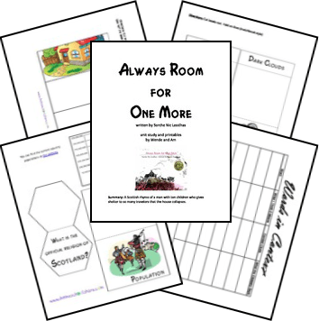 FREE Always Room for One More Unit Study and Printables