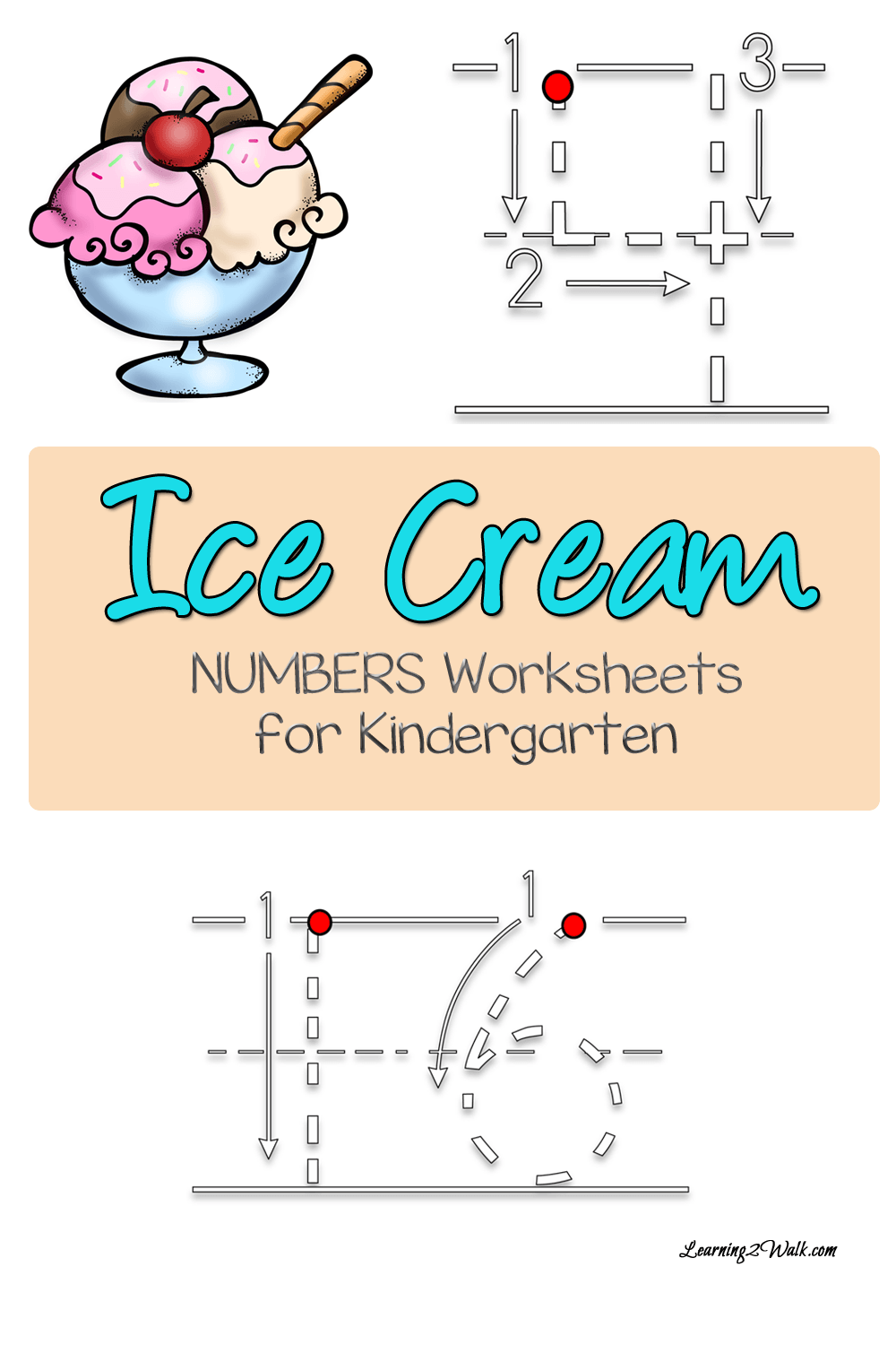 Free Ice Cream Number Worksheets