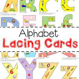 FREE Alphabet Lacing Cards (Instant Download)