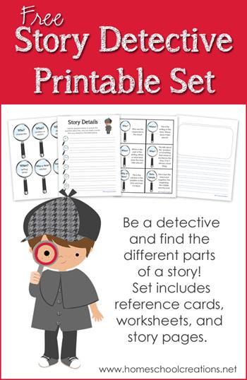 Free Story Detective Printable Set Free Homeschool Deals