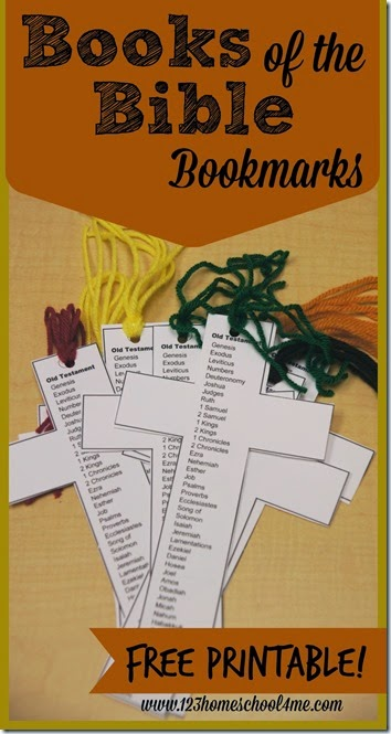 free printable books of the bible bookmark