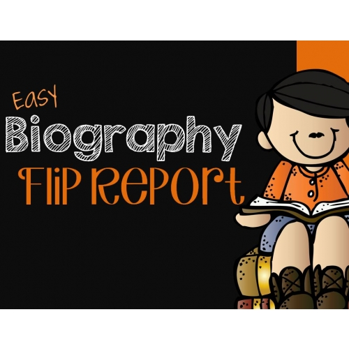 Biography Report Foldable Flip Book