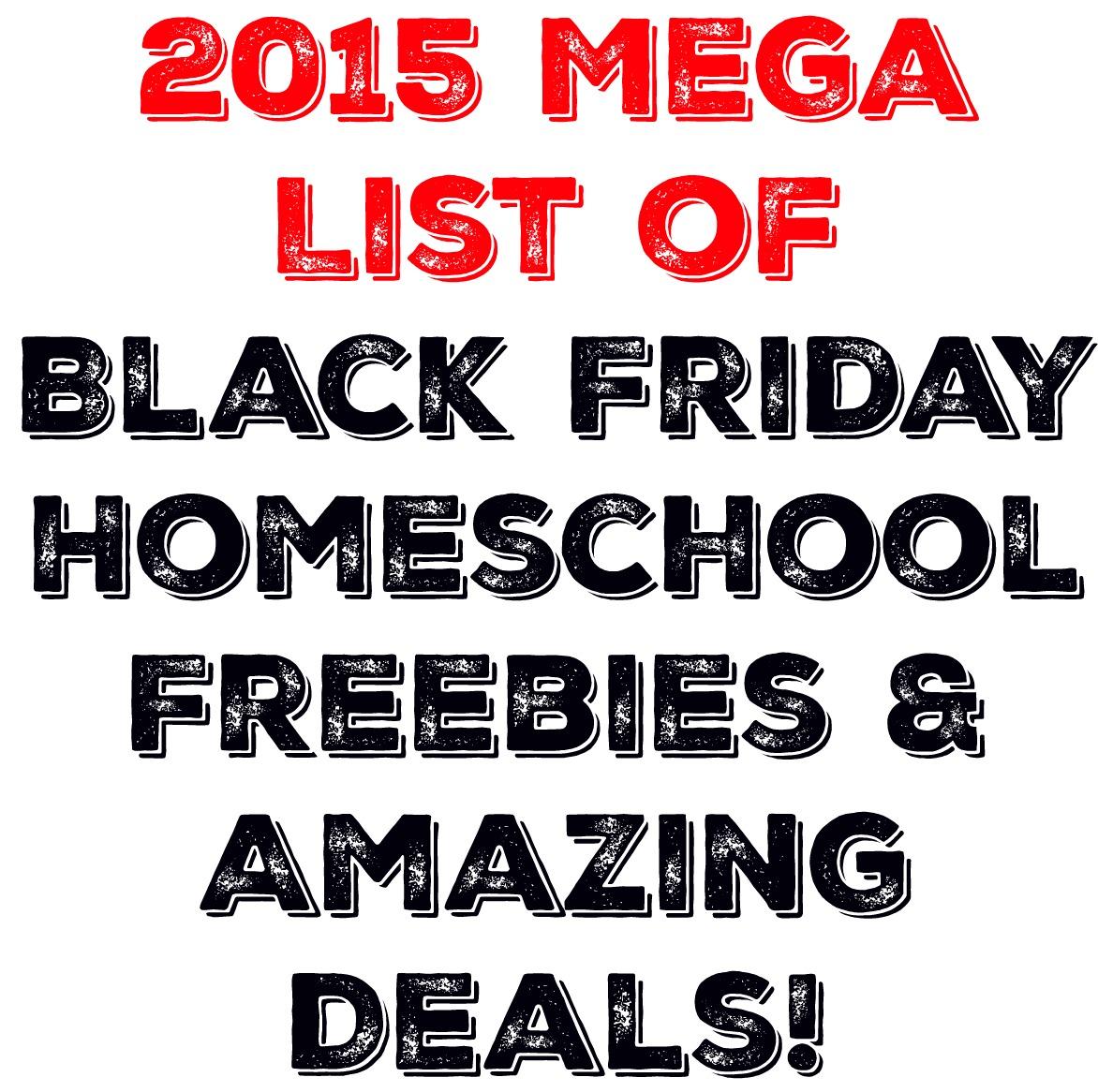 Mega List Of Black Friday Homeschool Freebies Amp Deals