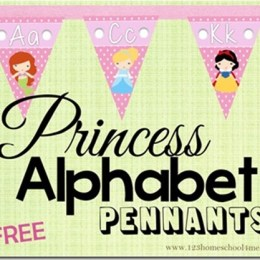 FREE PRINCESS ALPHABET PENNANTS (Instant Download)