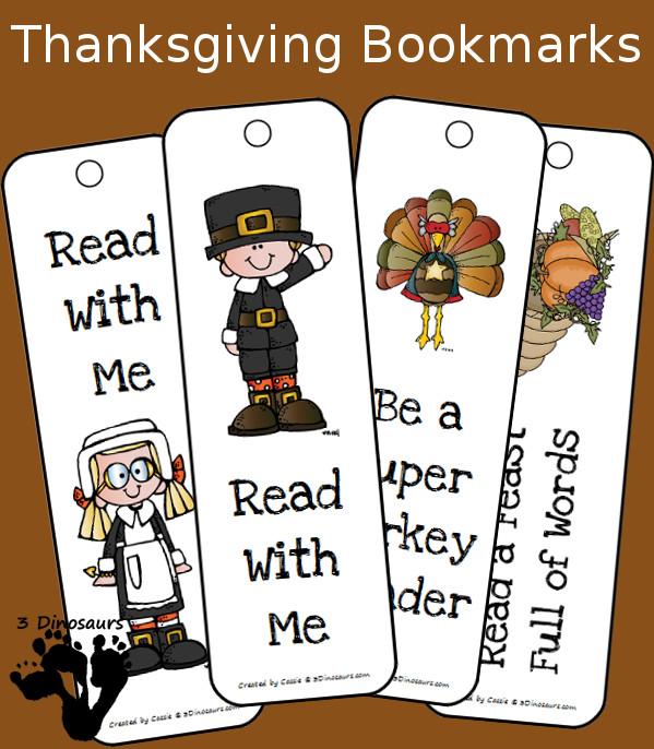 FREE Thanksgiving Bookmarks