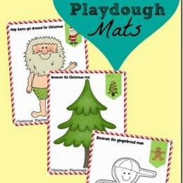 FREE Christmas Play Dough Mats