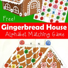 FREE Gingerbread House Alphabet Matching