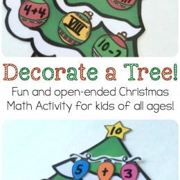 FREE Decorate a Tree Math Activity