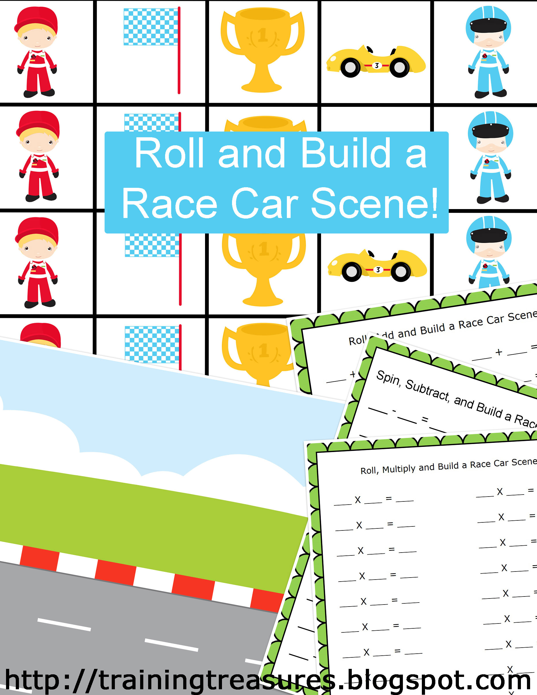 Free Race Car Math Game
