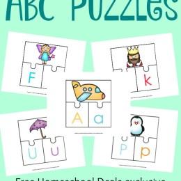 FREE ABC 3-PART PUZZLES (Instant Download!)