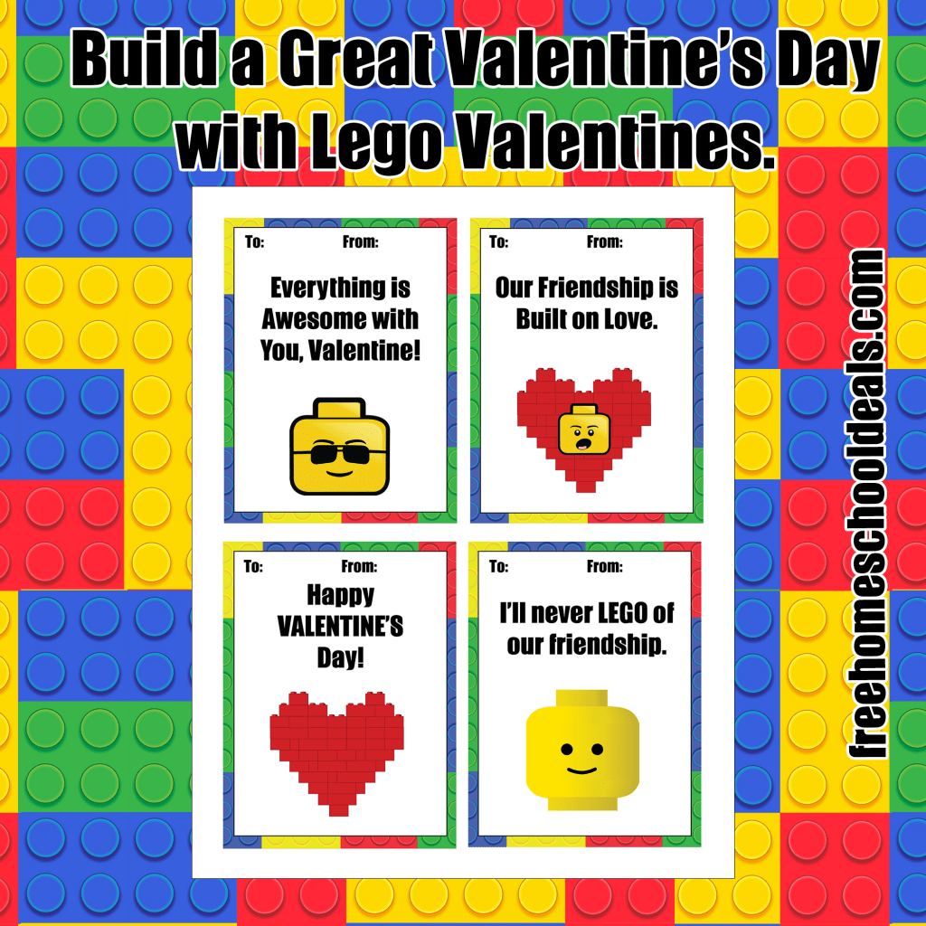 Free Printable Lego Valentines Instant Download