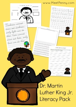 Dr. Martin Luther King Jr. Literacy Packet
