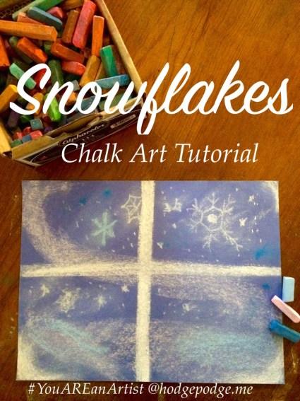 Snowflakes Chalk Pastel Tutorial