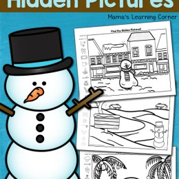 FREE Snowman Hidden Pictures