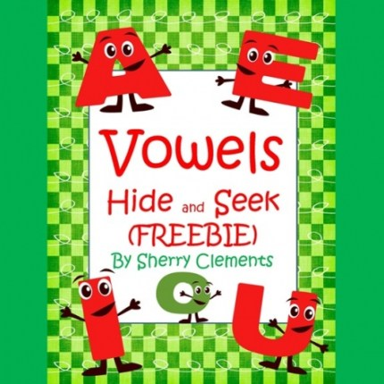 Free Vowels Hide & Seek Printables