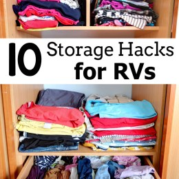 10 RV Storage Hacks {Roadschooling Series!}